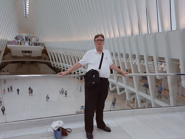 Terry inside The New World Trade Centre