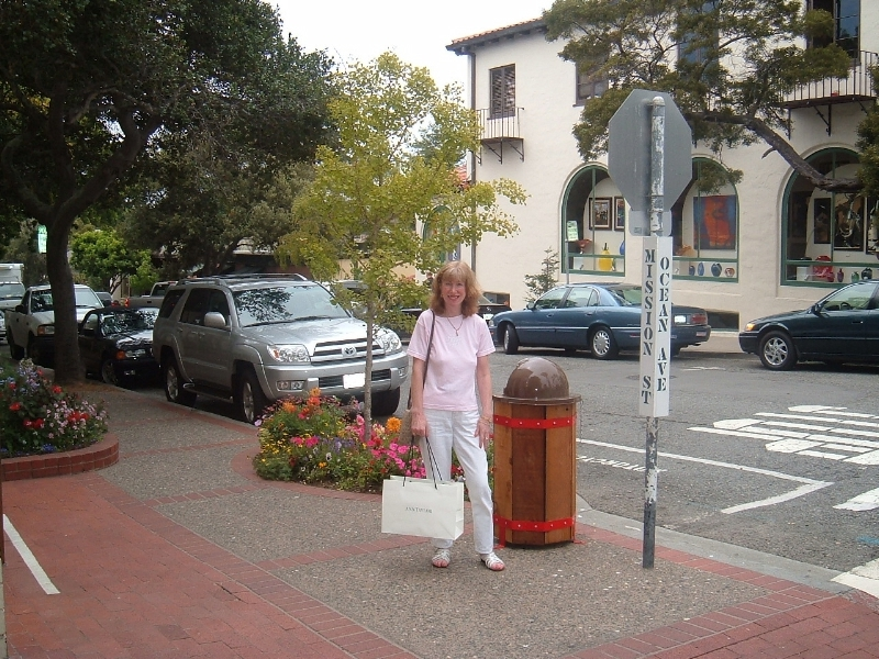 Pacific Coast Highway - Carmel in the town of Carmel