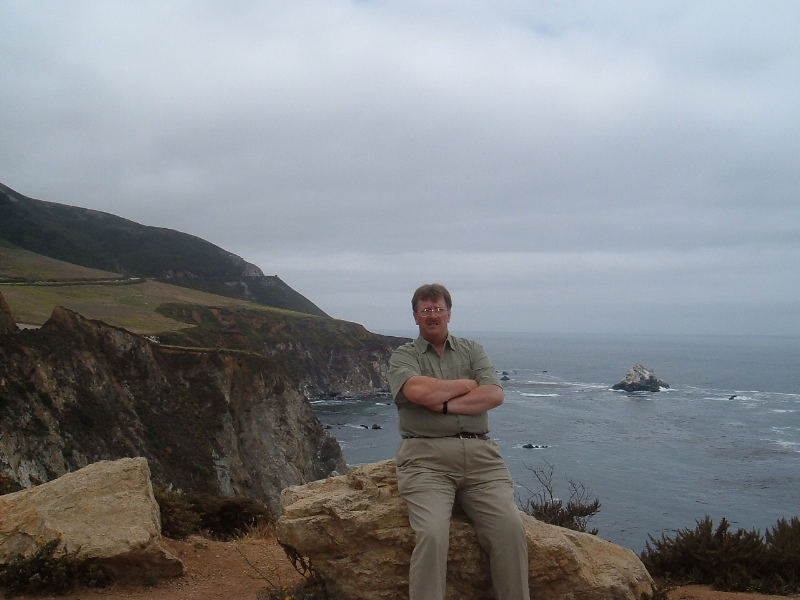 Terry on the Pacific Coast Highway