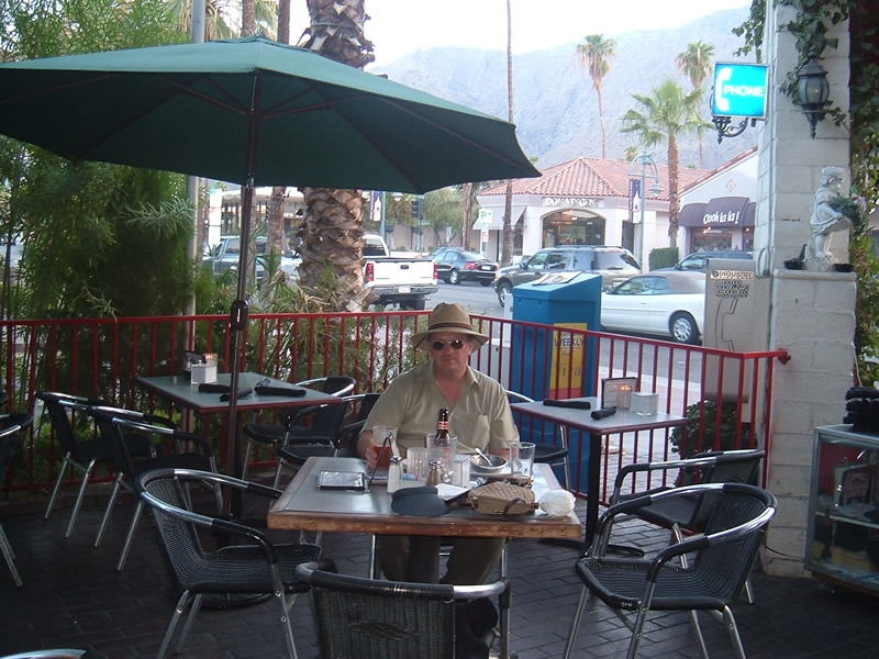 Palm Springs California - Terry in the Village Pub, Palm Canyon Drive