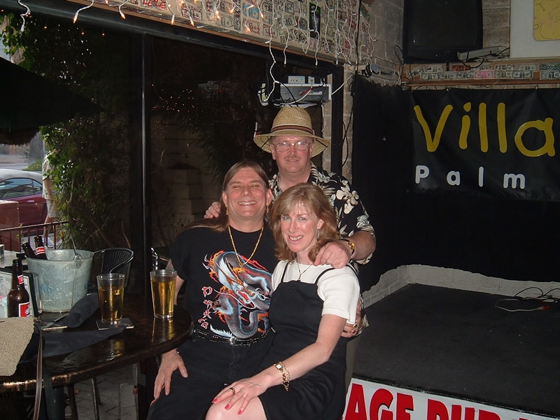 Palm Springs California - Ron James, Carmel & Terry in the Village Pub