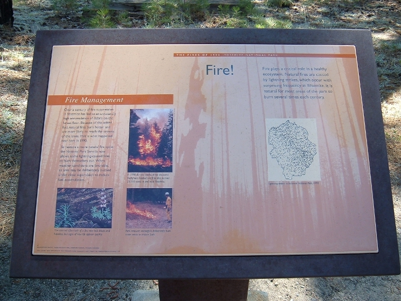 Fire management information in Yosemite National Park