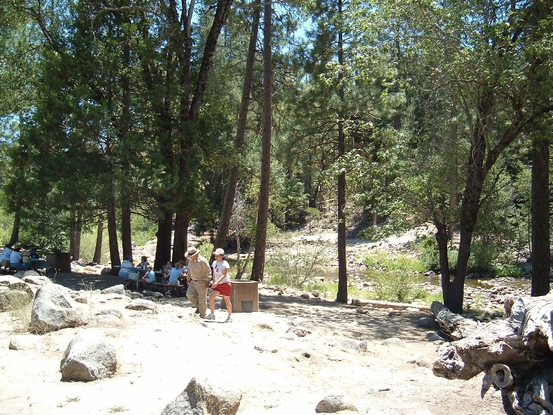 The picnic area in Yosemite National Park