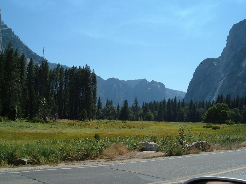 A scenic view in Yosemite National Park